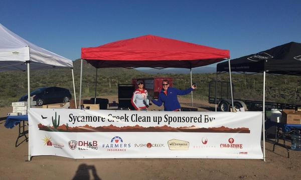 Volunteering at the Sycamore Creek Cleanup
