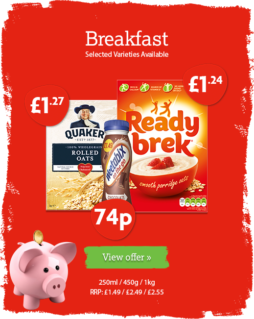Breakfast offer available until 21st January