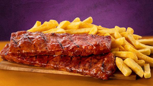 Double Rib Rack Meal with chips