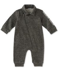 Image of Calvin Klein 1-Pc. Marled Coverall, Baby Boys