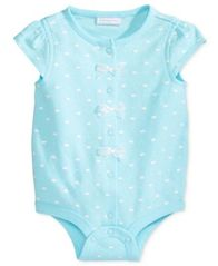Image of First Impressions Crown-Print Cotton Snap-Up Bodysuit, Baby Girls (0-24 months), Created for Macy's
