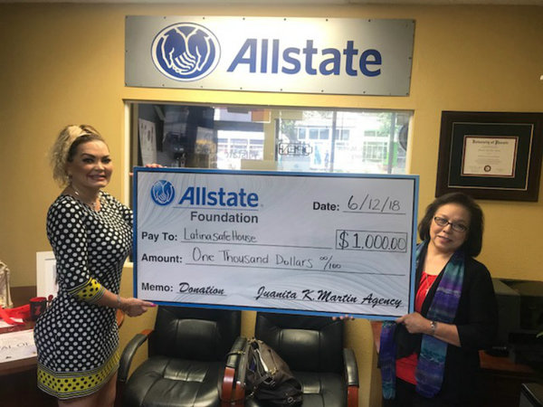 Juanita K. Martin - The Allstate Foundation Helps Latina Safehouse Initiative