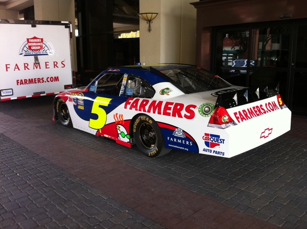 The Farmers Insurance #5 looking good.