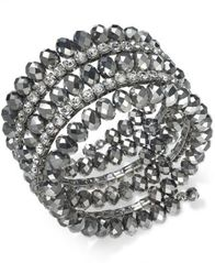 Image of I.N.C. Coil Wrap Beaded Bracelet, Created for Macy's