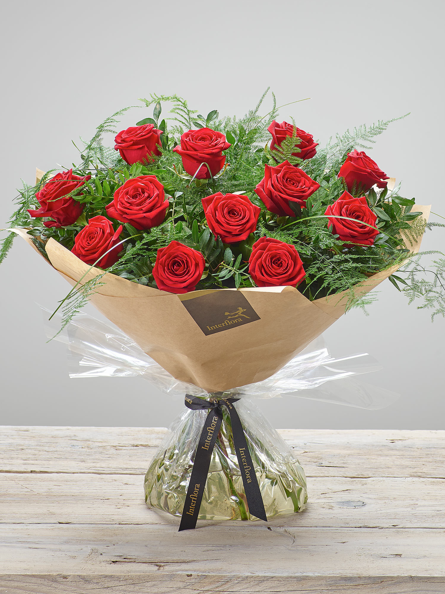 Image of Heavenly Red Rose Hand-tied