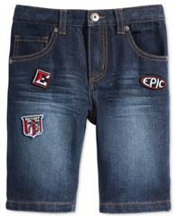 Image of Epic Threads Little Boys' Patch Denim Shorts, Created for Macy's
