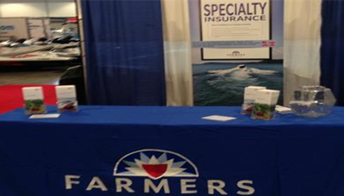 Check out the Farmers® booth at the Boat Show at the Music City Center