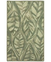 "Image of Bacova Leaf Sketch Blue 28.3"" x 46.0"" Accent Rug"