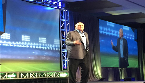 Terry Bradshaw speaking to us at the 2015 Leadership Conference