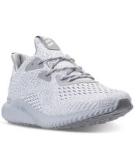 Image of adidas Men's AlphaBounce EM Running Sneakers from Finish Line