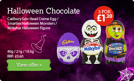 Halloween chocolate available at local participating Nisa Stores