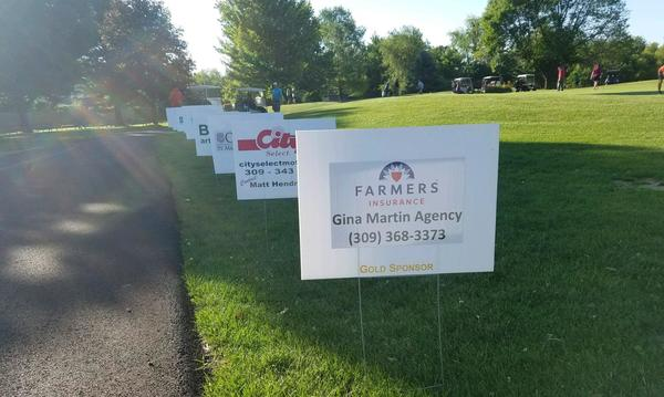 Signs from golf outing