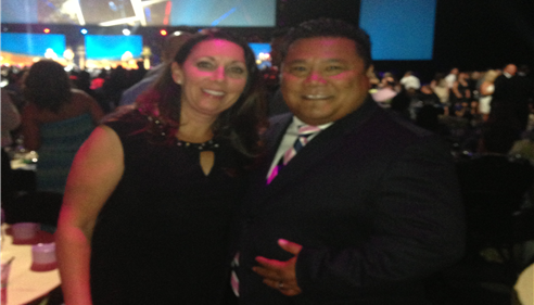 With Jenifer at the 2014 Championship Agents Convention, San Antonio Texas.