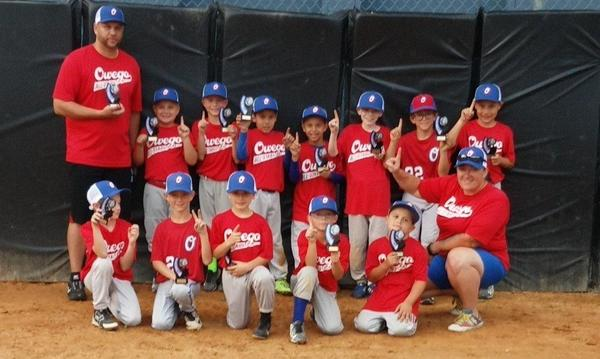 Owego Little League 8u team after their Championship win!