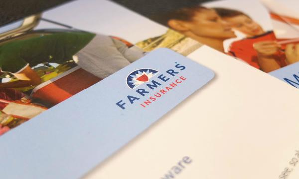 Photo of Farmers Insurance on stationary.