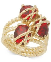 Image of Charter Club Gold-Tone Three-Crystal Wrap Ring, Created for Macy's