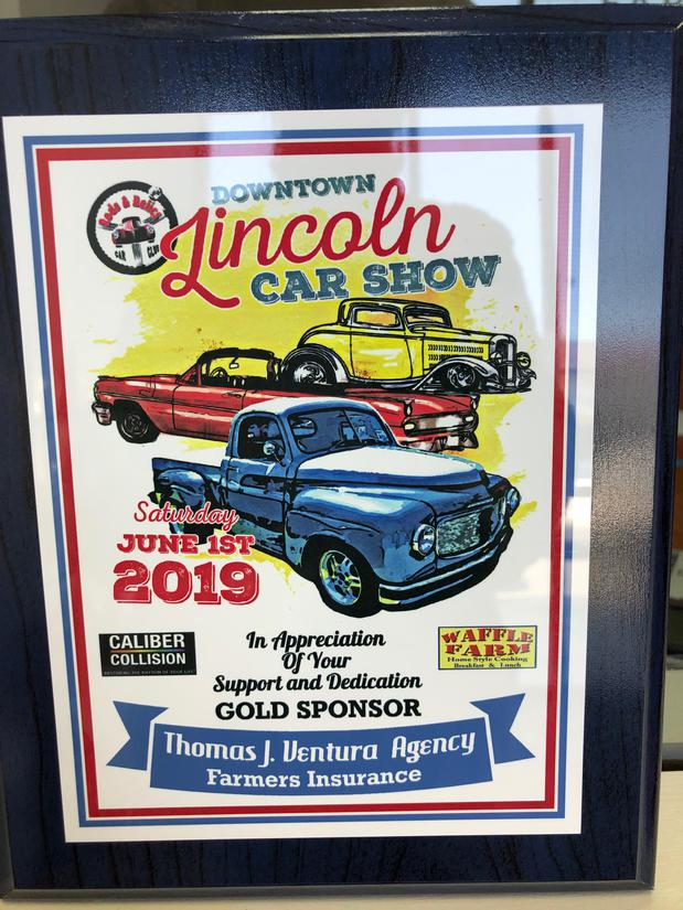Sign for an antique car show