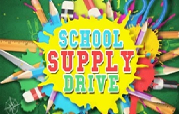 Chris Roberson - Stop by our office and contribute to our Driven to Donate Campaign – Back to School Supply Drive!