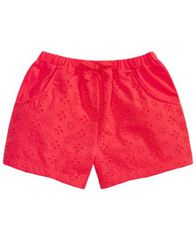 Image of First Impressions Toddler Girls Eyelet Cotton Shorts, Created for Macy's