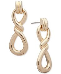 Image of Anne Klein Gold-Tone Twist Drop Earrings