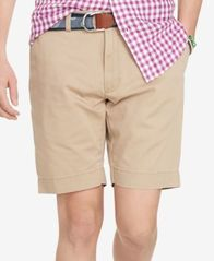 "Image of Polo Ralph Lauren Men's 9.5"" Classic-Fit Flat-Front Chino Shorts"