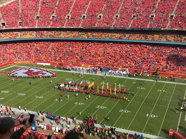 Football game in Arrowhead