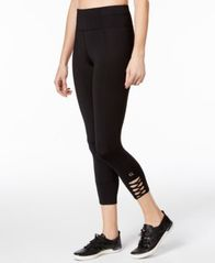 Image of Calvin Klein Performance Lattice-Detail Cropped Leggings