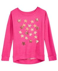 Image of Hero Kids by Epic Threads Sequin & Glitter Stars Sweatshirt, Big Girls (7-16), Created for Macy's