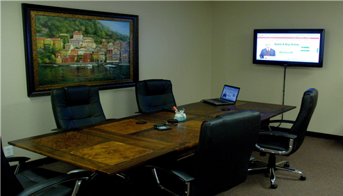 Our conference room for team meetings and clients.