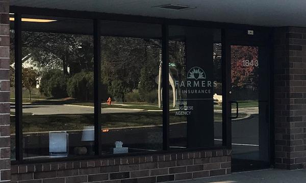 Farmers Insurance Brian Pugliese Agency storefront.