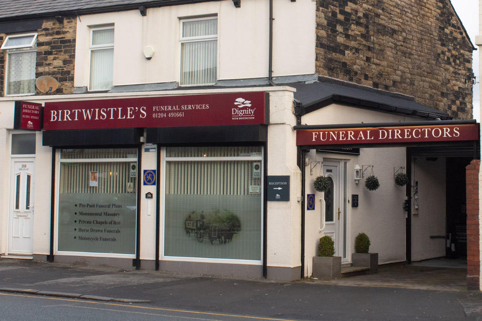 Birtwistle's Funeral Directors in Bolton, Greater Manchester.