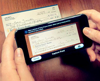depositing check with mobile phone