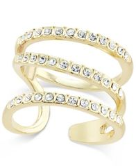 Image of I.N.C. Gold-Tone Triple Band Pavé Statement Ring, Created for Macy's