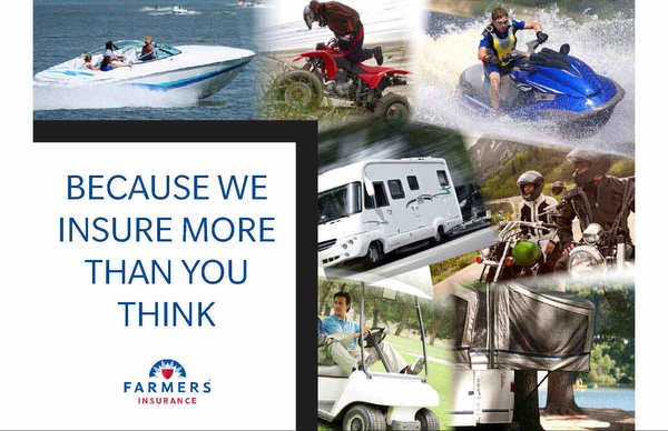 Specialty Products: Boat, motorcycle, golf cart, ATV, travel trailer, travel home, dirt bike, dune buggy, or snowmobile.
