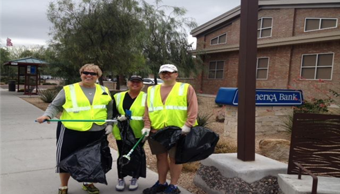"Our Agency volunteers with ""Keeping Scottsdale Beautiful"" in Scottsdale Arizona"