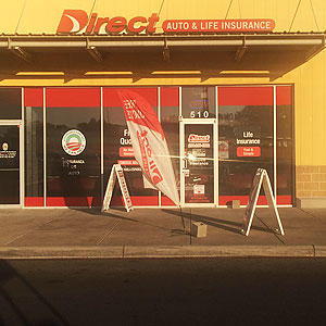 Front of Direct Auto store at 2509 North Main Street, Belton
