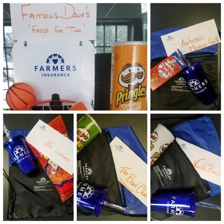 a few of our prizes....  Free March Madness Bracket... go to our Agency Facebook page to join!!!