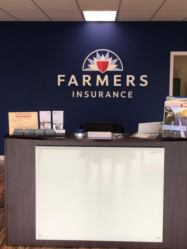 Front desk inside a Farmers Office