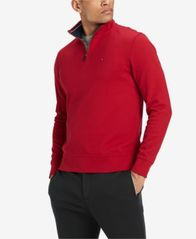 Image of Tommy Hilfiger Men's Quarter-Zip Sweater, Created for Macy's