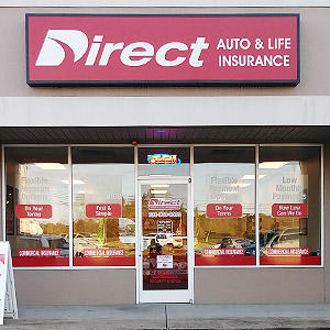 Front of Direct Auto store at 455 West Church Street, Lexington