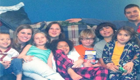 My Son, Daughter, Step sister and 6 of 7 grandchildren.