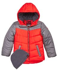 Image of RM 1958 Toddler Boys Norris Colorblocked Hooded Jacket with Hat