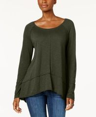 Image of Style & Co Cotton High-Low Top, Created for Macy's