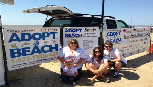 Adopt-A-Beach Clean-up at McFaddin Beach.