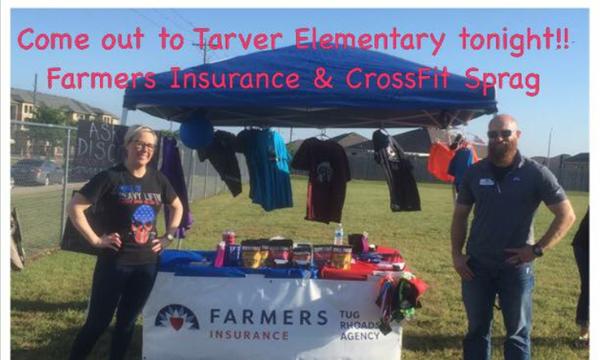 Our tent at the Tarver Elementary Festival