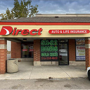 Front of Direct Auto store at 13217 Superior Ave, Cleveland