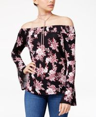 Image of Ultra Flirt Juniors' Off-The-Shoulder Top