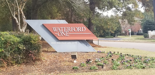 road sign for 2820 waterford Lake dr