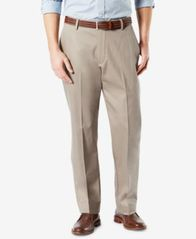 Image of Dockers Men's Signature Lux Cotton Classic Fit Stretch Khaki Pants
