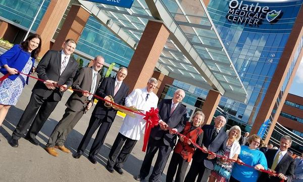 Ribbon cutting ceremony at the Olathe Medical Center Birth Place.